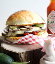 Ricotta&vegetable hot burger