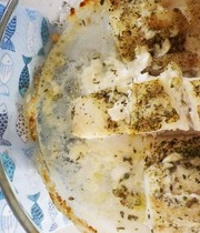 Cod on a bed of coarse salt