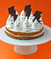 Ghostly Halloween carrot cake
