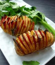 Baked potatoes with chorizo