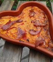 Basque-style piperade clafoutis