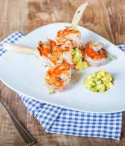Marinated Shrimps and Mango Sauce