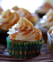 Salted caramel-pumpkin cupcakes