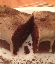 Chocolate fondant with a slated butter icing