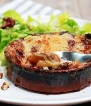 Belgian endive, pear and gorgonzola gratin