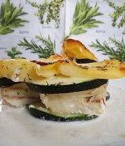 Alaskan Hake Gratin with Zucchini and Potatoes