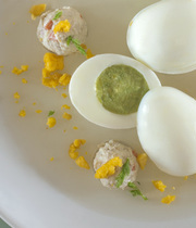 Spring egg, citrus jelly
