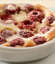 Raspberry and Philadelphia® clafoutis