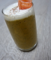 The savory hot carrot and zucchini smoothie