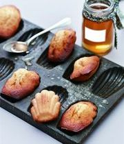 Honey and almond madeleines