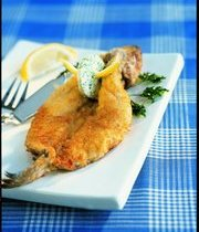 "Whiting fish with Colbert sauce (French ""fish and chips""-but the fish is whole)"