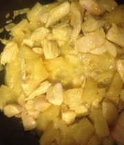 Chicken curry with pineapple and coconut