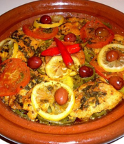 Fish tagine with vegetables