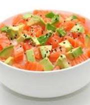 Japanese style salmon tartare