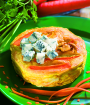 Carrot and gorgonzola pie