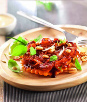Yvan Cadiou's Carrot Tatin, with parmesan and puffed wheat