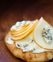 Fourme d'Ambert and pear toast