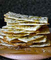 Cheese, honey and thyme thins