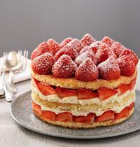 Strawberry-cream cake