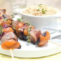 brochette canard-abricot