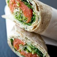 wrap saumon avocat