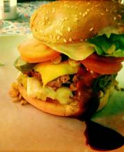 Bloody Burger   Apple and St. Nectaire cheese