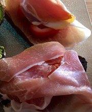 Ham bruschettas