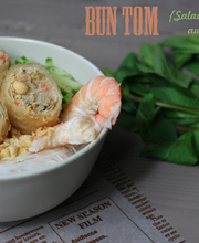 Vietnamese shrimp Bun Tom salad