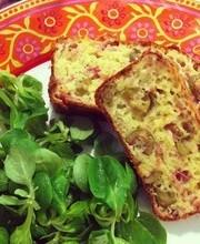 Ham, olive and gruyere cake