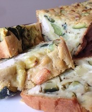 Savory zucchini and chicken bread