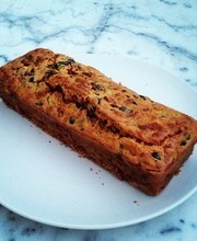 Savory chorizo, olive and zucchini bread