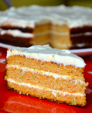 Les 400 Coups restaurant's Carrot cake with mascarpone lime frosting