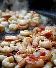 Shrimp marinated in fennel and anise.