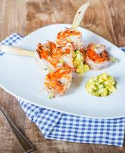 Marinated Shrimps and Mango Sauce