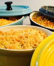 Zucchini and basil crumble