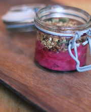Ginger, rhubarb and quinoa detox crumble