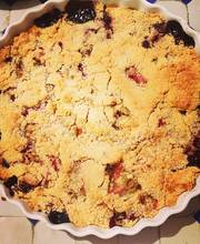 Red fruit crumble-Rhubarb