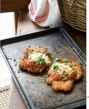 Chicken scaloppine parmigiana-style