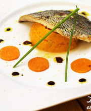 Sea bream fillet with coffee vinaigrette