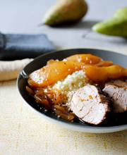 Pork tenderloin with pears and honey