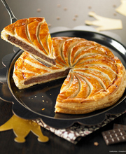 Christophe Roussel's Chocolate galette des rois (frangipane-filled pastry)