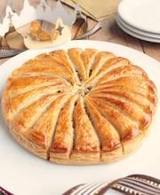 Ginger pear frangipane tart