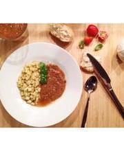 Tomato gazpacho - Cucumber brunoise
