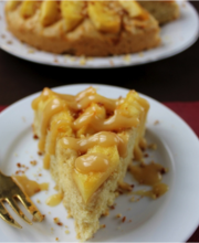 Caramelized apple cake