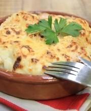 Chorizo-cauliflower bake