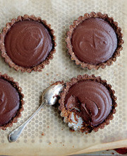"Juliette's total chocolate """"Croustifondante"""" tartlets"