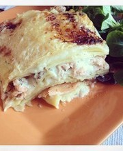 2 salmon and zucchini lasagna