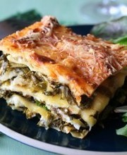 Kale and goat cheese gluten free lasagna