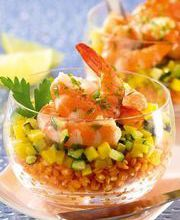 Red lentils with shrimp and paprika