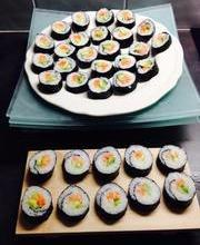 Salmon-avocado-cucumber Makis